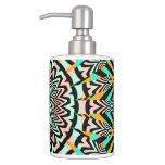 Toothbrush Holder & Soap Dispenser Set