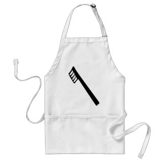 toothbrush icon adult apron