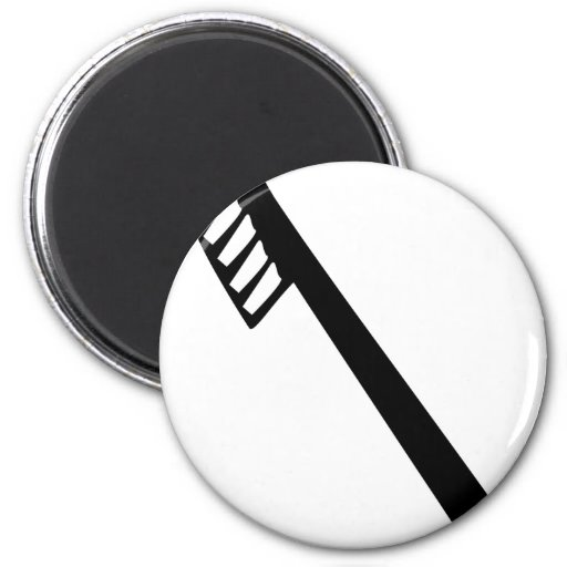 toothbrush icon fridge magnets