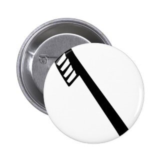 toothbrush icon pinback button
