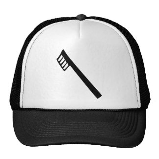 toothbrush icon trucker hat