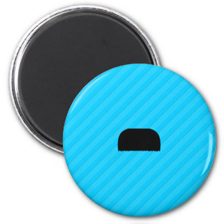 Toothbrush Mustache 2 Inch Round Magnet
