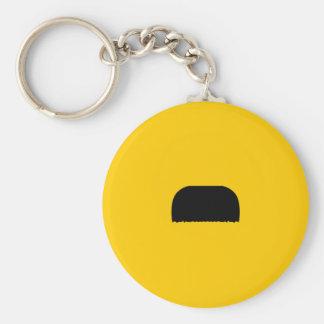 Toothbrush Mustache Basic Round Button Keychain