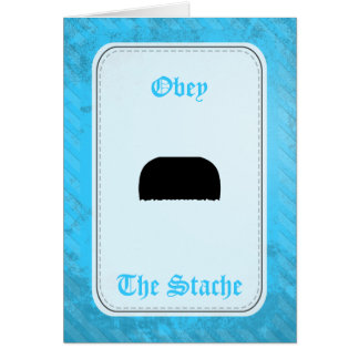 Toothbrush Mustache Card
