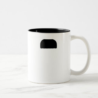 Toothbrush Mustache Two-Tone Coffee Mug