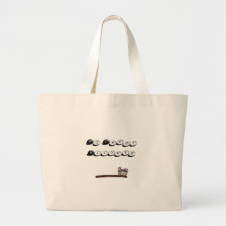 toothbrush, No Candy Allowed Large Tote Bag