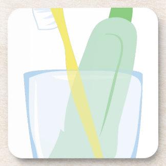 Toothbrush & Paste Beverage Coaster