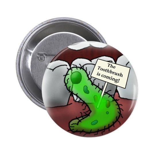 toothbrush pinback button