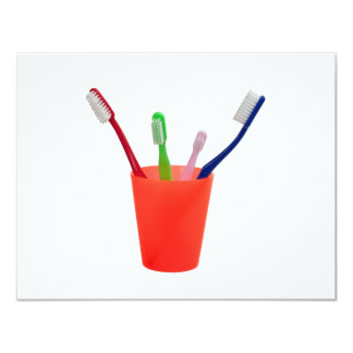 Toothbrushes and cup card