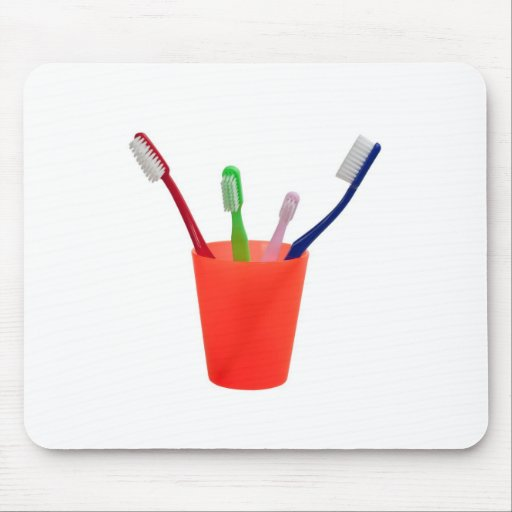 Toothbrushes and cup mouse pad