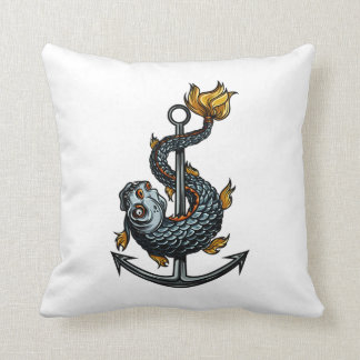 toothed fish around anchor.png throw pillows