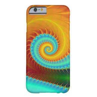 Toothed Spiral in Turquoise and Gold Barely There iPhone 6 Case