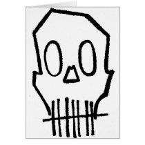 skull, drawing, simple, fun, bones, goth, illustrations, sacrum, scapula, shoulder blade, os pubis, unpleasant person, round bone, shoulder bone, short bone, os breve, sphenoid bone, sesamoid bone, sesamoid, os sesamoideum, metacarpal, metacarpal bone, metatarsal, os longum, ramus, membrane bone, nasal bone, palatine bone, os palatinum, pubis, os nasale, bonelet, disagreeable person, sphenoid, modiolus, lacrimal bone, calvaria, zygoma, zygomatic arch, arcus zygomaticus, Cartão com design gráfico personalizado