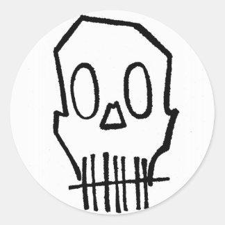 Toothee Mc Skull Classic Round Sticker