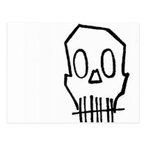 skull, drawing, simple, fun, bones, goth, illustrations, sacrum, scapula, shoulder blade, os pubis, unpleasant person, round bone, shoulder bone, short bone, os breve, sphenoid bone, sesamoid bone, sesamoid, os sesamoideum, metacarpal, metacarpal bone, metatarsal, os longum, ramus, membrane bone, nasal bone, palatine bone, os palatinum, pubis, os nasale, bonelet, disagreeable person, sphenoid, modiolus, lacrimal bone, calvaria, zygoma, zygomatic arch, arcus zygomaticus, Cartão postal com design gráfico personalizado