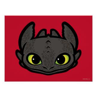Toothless Head Icon Poster