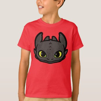 Toothless Head Icon T-shirt by howtotrainyourdragon at Zazzle