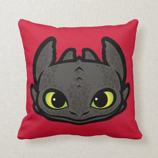 Toothless Head Icon Throw Pillow