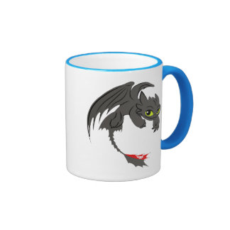 Toothless Illustration 01 Ringer Coffee Mug