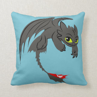 Toothless Illustration 01 Throw Pillow