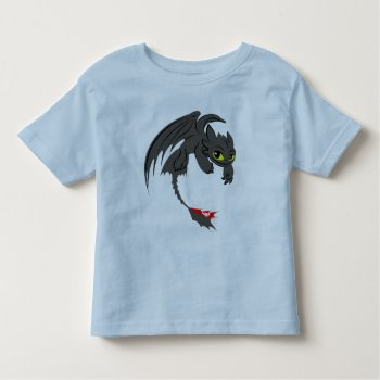 Toothless Illustration 01 Toddler T-shirt by howtotrainyourdragon at Zazzle