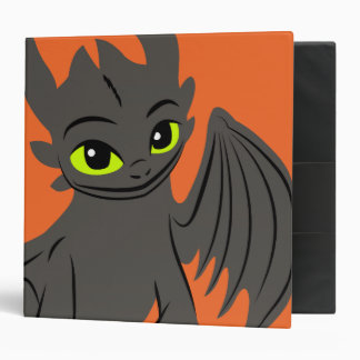 Toothless Illustration 02 3 Ring Binder