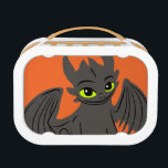 """Toothless Illustration 02 Lunch Box<br><div class=""""desc"""">Check out this Toothless Illustration 02 product! Personalize your own How to Train Your Dragon 2 merchandise on Zazzle.com! Click the Customize button to insert your own name or text to make a unique product. Try adding text using various fonts &amp; view a preview of your design! Zazzle&#39;s easy to...</div>"""