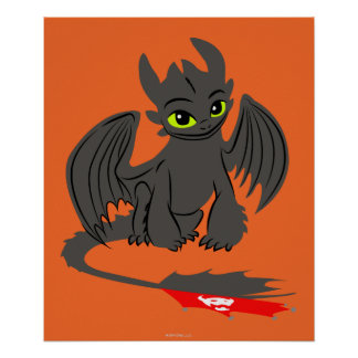 Toothless Illustration 02 Poster