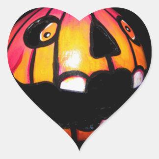 Toothless Pumpkin Heart Sticker