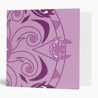Toothless Purple Icon 3 Ring Binders