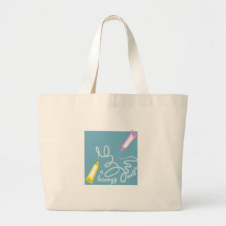 Toothpaste a long ways canvas bag