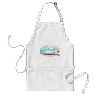 Toothpaste and Brush Adult Apron