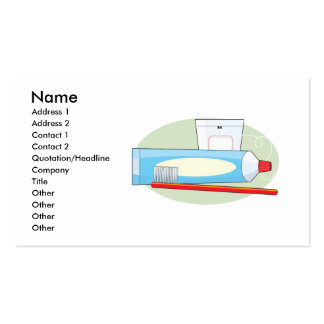 Toothpaste and Brush Business Card Template