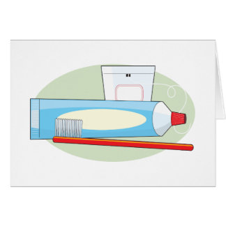 Toothpaste and Brush Card