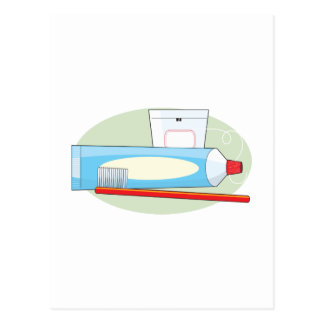 Toothpaste and Brush Postcard