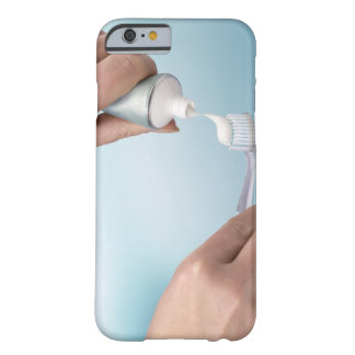 Toothpaste being squeezed onto a brush barely there iPhone 6 case