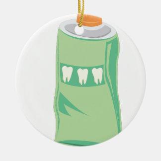 Toothpaste Ceramic Ornament