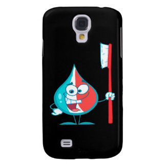Toothpaste Character Holding A Toothbrush Samsung S4 Case
