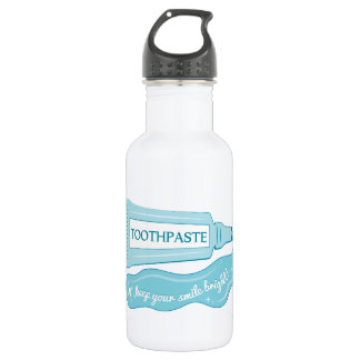 Toothpaste Keep Your Smile Bright 18oz Water Bottle