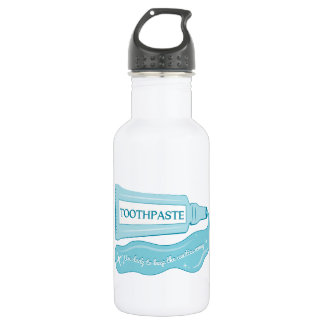 Toothpaste use daily to Keep Cavities Away 18oz Water Bottle