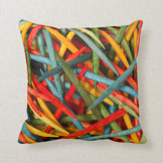 Toothpicks Throw Pillow