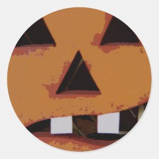 toothy 2 pumpkin classic round sticker
