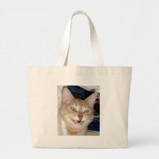 TOOTHY CAT TOTE BAG