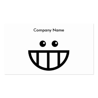 Toothy Face, Company Name Double-Sided Standard Business Cards (Pack Of 100)