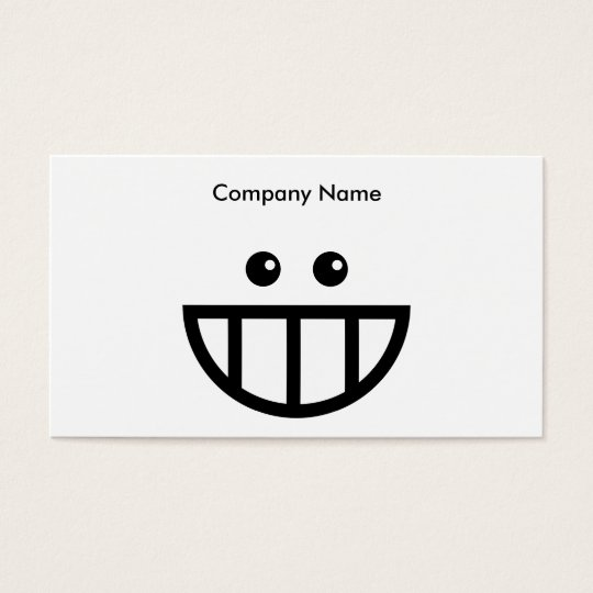 Toothy Face, Company Name Business Card