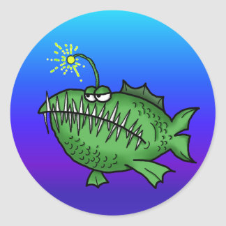 Toothy Fish Classic Round Sticker