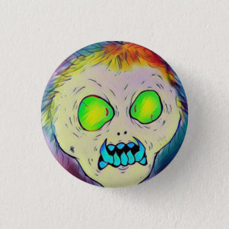 Toothy Ghoul Pinback Button