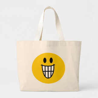 Toothy grin smiley bag