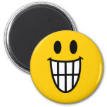 Toothy grin smiley refrigerator magnets