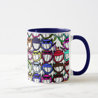 Toothy Grinning Faces, Smiling Faces, Happy Faces Mug